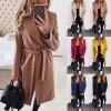 Dámsky zimný zavinovacie kabát - 6 farieb až 3XL