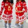 Dámske červené vianočné šaty