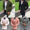 Pánsky elegantný kabát s dvojradovým zapínaním