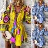 Luxusné letné Boho mini šaty so strapcami (Velikost L, Barva Žlutá)