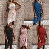 Krásne spoločenské šaty na jedno rameno so zaväzovaním