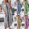 Letné dlhé batikované šaty - až 4XL