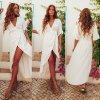 Letné ľahké zavinovacie šaty