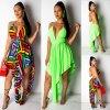 Letné extravagantné šaty s viazaním za krk