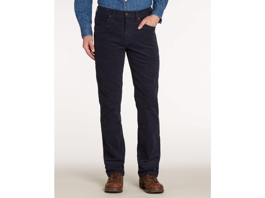 Pánské manžestrové kalhoty WRANGLER W121N9124 TEXAS STRETCH Navy ... 3452f2f5d0