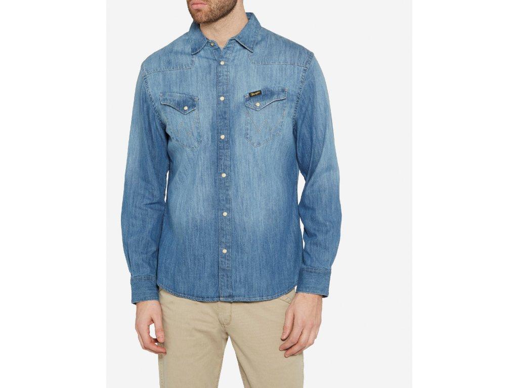 pánská džínová košile wrangler