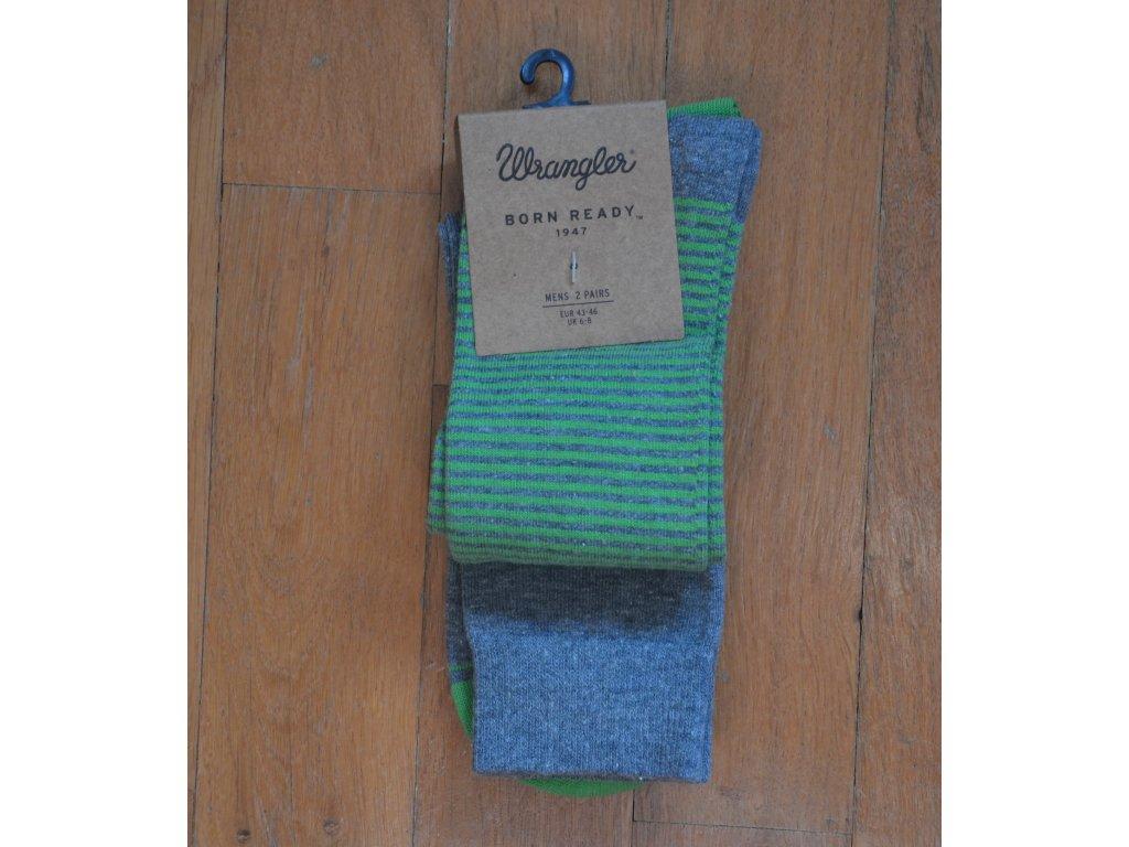 Pánské ponožky WRANGLER šedá a zelená