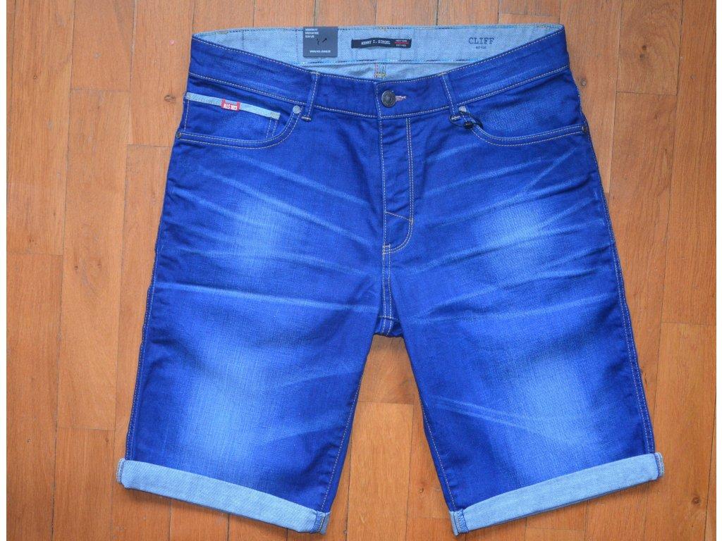 Pánské džínové šortky H.I.S 101331 CLIFF STRETCH Premium Medium Blue Wash