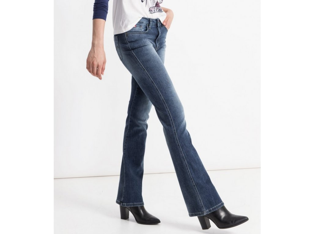 Dámské džíny HIS 101437 SUNNY STRETCH Premium Medium Blue Wash