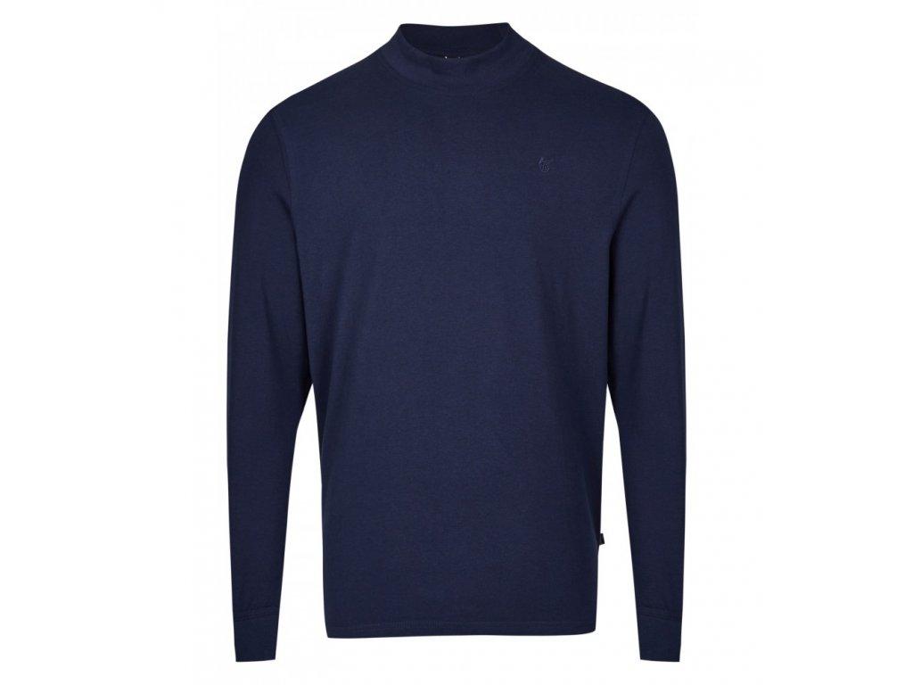 Pánské triko se stojáčkem HAJO 20015/4 609 Marine