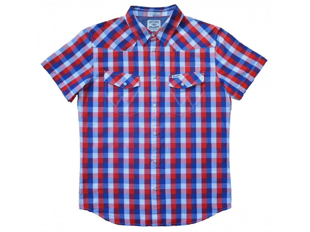 Pánská košile WRANGLER W58534Z12 SLIM FIT White