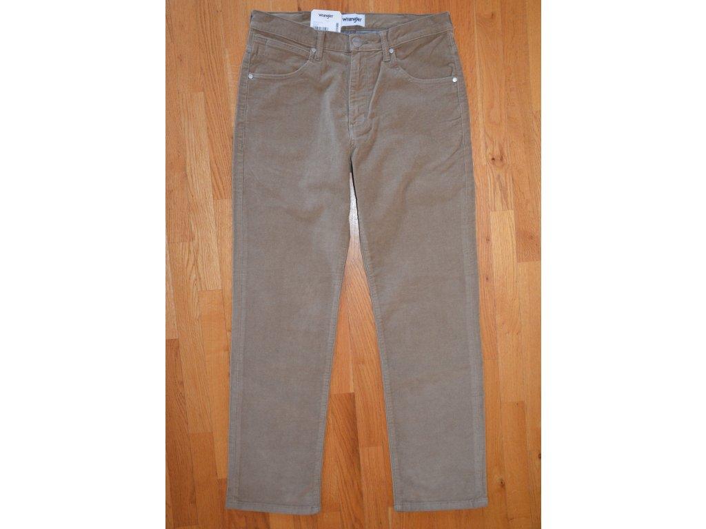 Pánské manšestrové kalhoty WRANGLER W12OEC012 ARIZONA STRETCH Biscuit