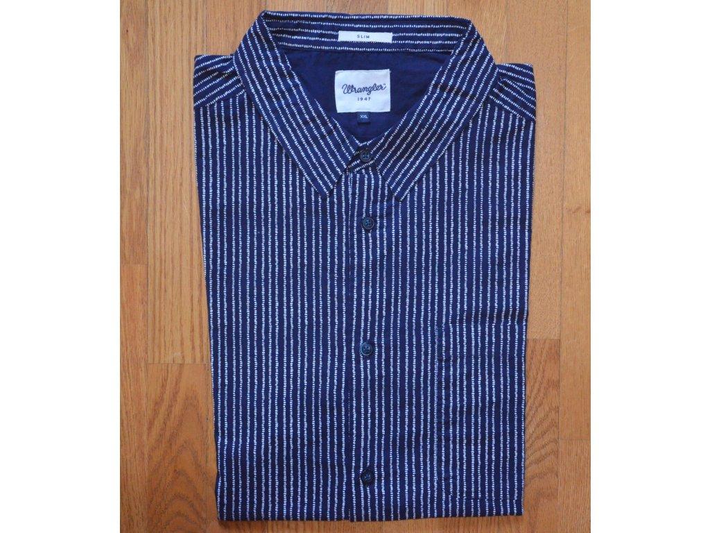 Košile WRANGLER W59096S9I Medieval Blue