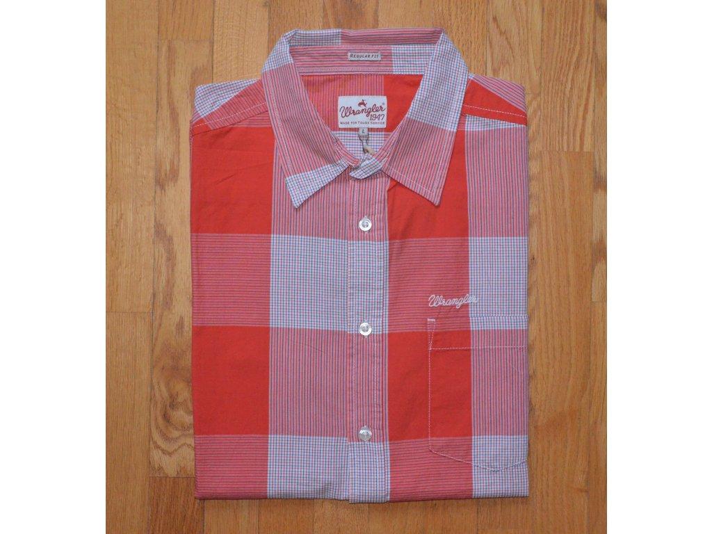 Košile WRANGLER W5704M39X Red Clay