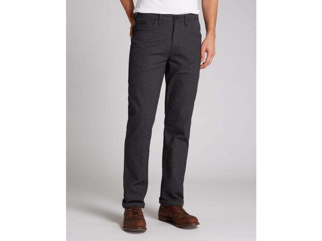 pánské černé kalhoty wrangler