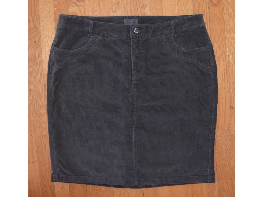 Manšestrová sukně HIS 123-02-002 Warm Dark Grey