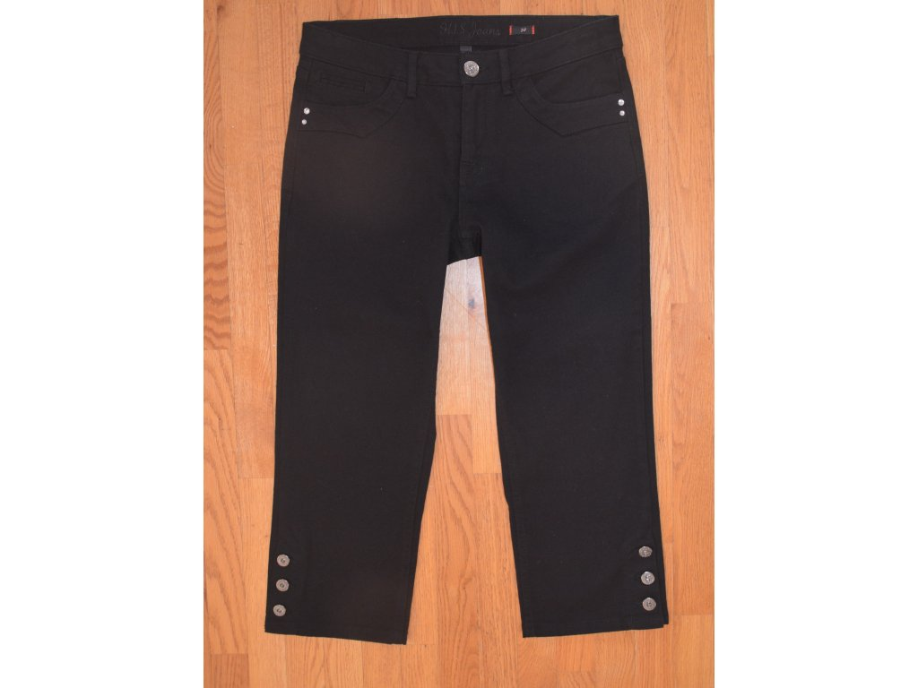 Dámské 3/4 džíny HIS 111-10-529 MARA STRETCH Black