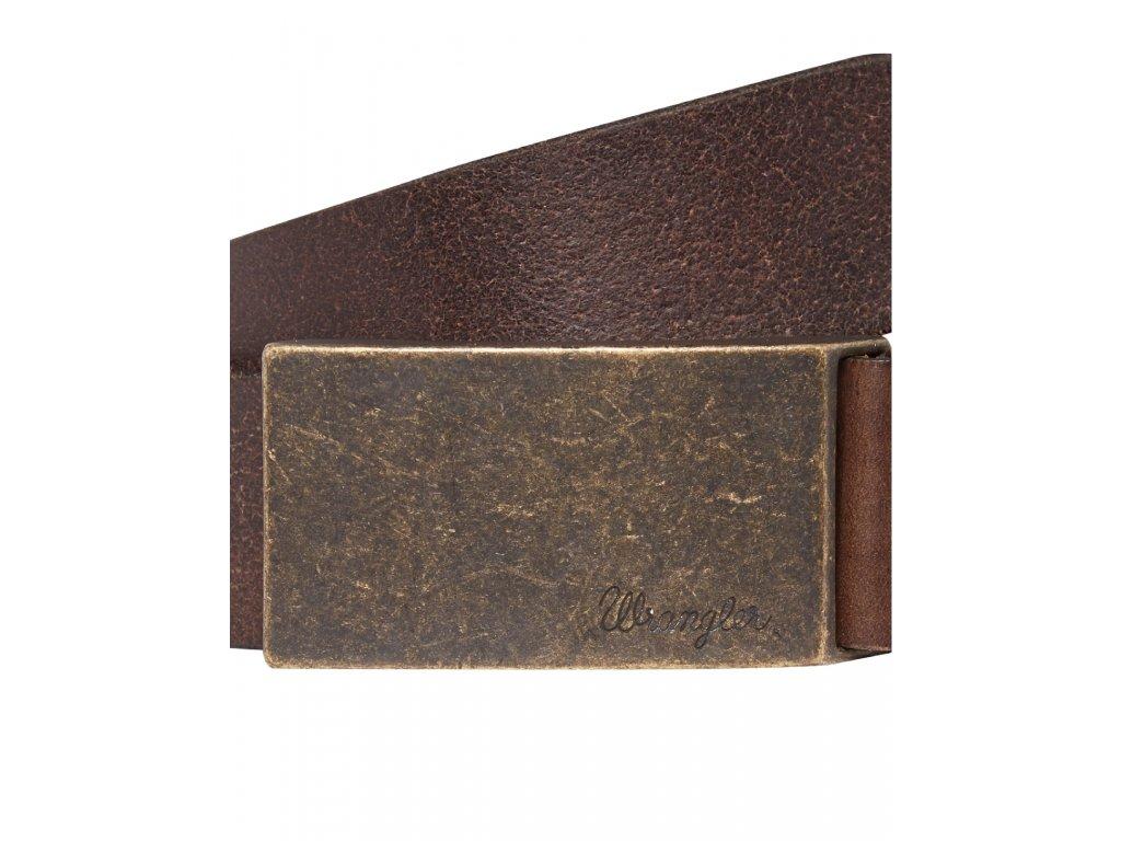 Kožený opasek WRANGLER W0272US85 Brown