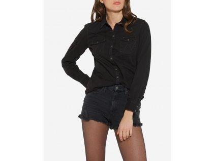 Dámská JEANS košile WRANGLER W5045MR7E Black Denim