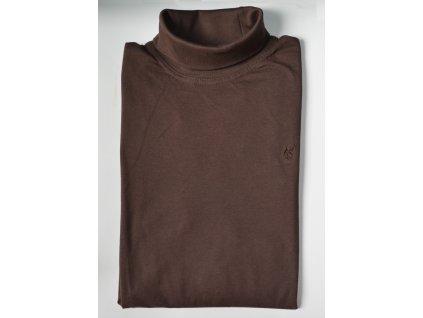 Pánské triko s rolákem HAJO 20016/3 207 Coffee