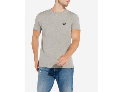 pánské šedé tričko wrangler W7C07D337