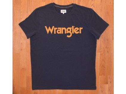 Pánské tričko WRANGLER W7C49FQ35 REGULAR FIT Navy