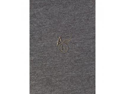 Pánské triko se stojáčkem HAJO 20015/4 102 Antacite