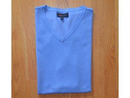 Pánská pletená vesta AMJ modrá 001