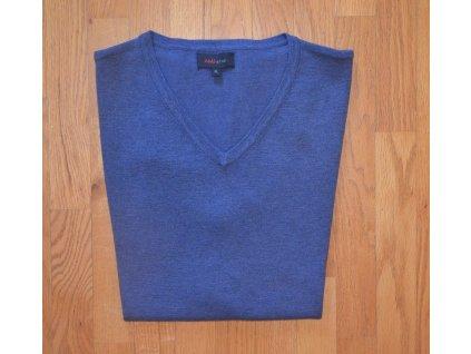 Pánská pletená vesta AMJ modrá 002