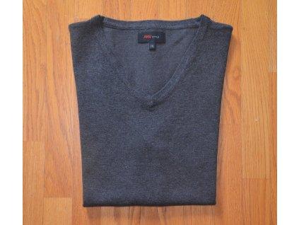 Pánská pletená vesta AMJ tmavě šedá 102