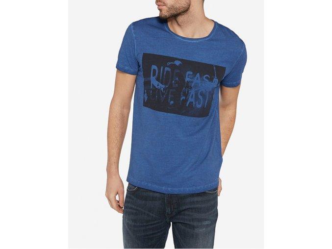 pánské modré triko wrangler
