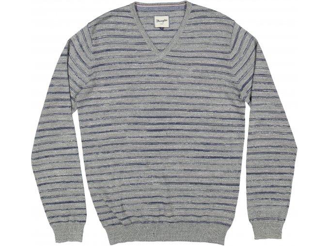 Pánský svetr WRANGLER W8568R737 REGULAR FIT Mid Grey Mel