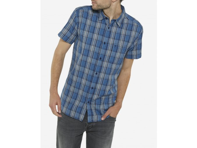 modrá košile wrangler W5860L3RQ
