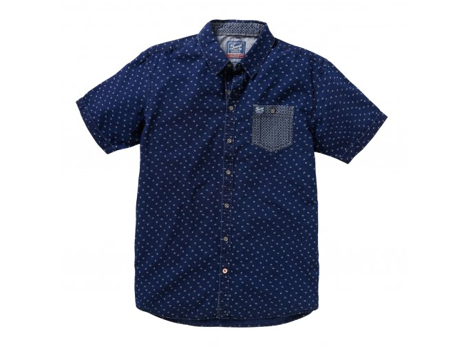 pánské tričko twinlife MSH711621 Real Indigo