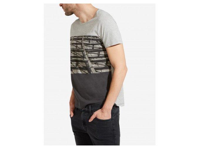 Pánské tričko WRANGLER W7B05D337 REGULAR FIT Mid Grey Mel