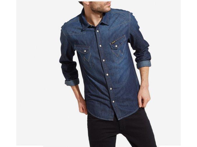 pánská jeans košile wrangler W5974O71E 1