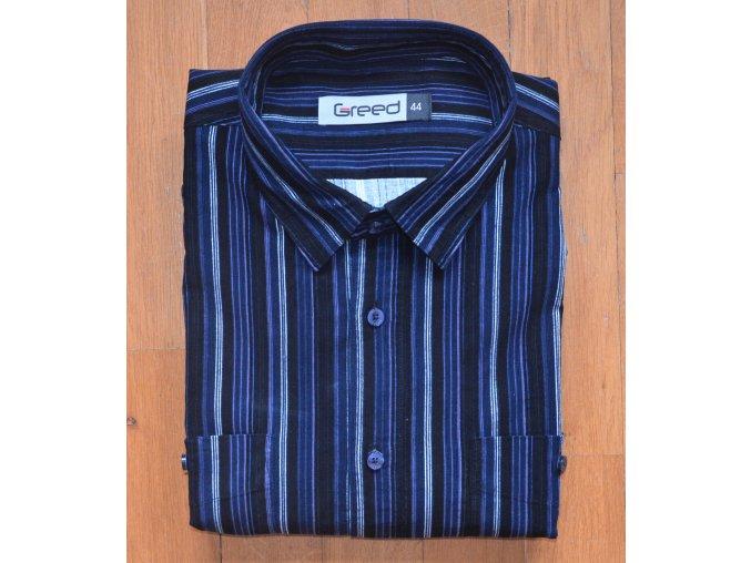 Pánská manšestrová košile AMJ Greed SDM 350 Modrá