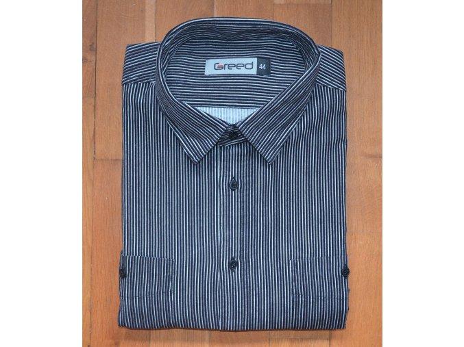 Pánská manžestrová košile AMJ Greed SDM 351 Černá