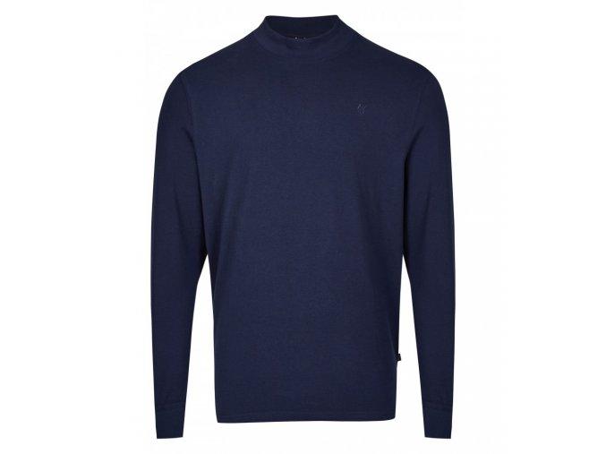 Pánské triko se stojáčkem HAJO 20015/3 609 Marine