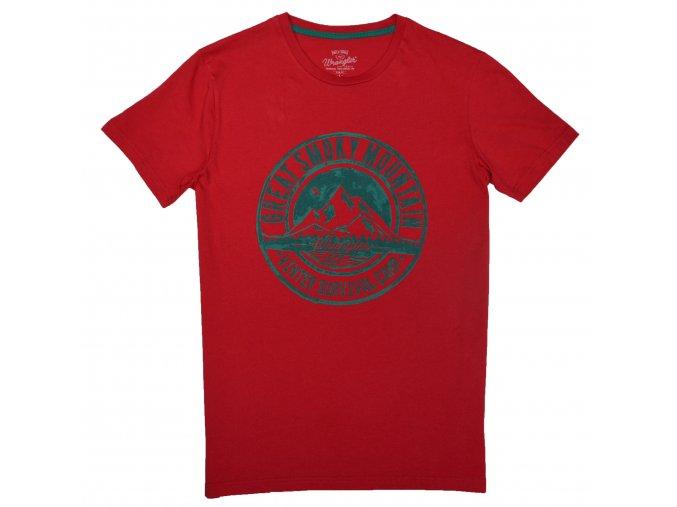 pánské červené tričko wrangler