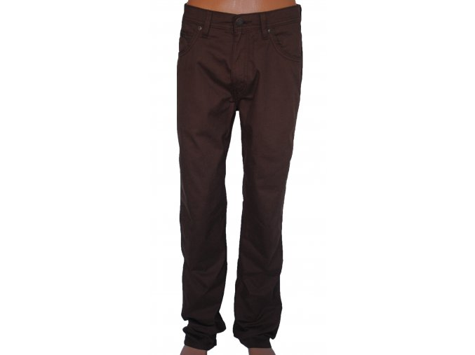 Kalhoty WRANGLER W12OH139A ARIZONA STRETCH Brick brown
