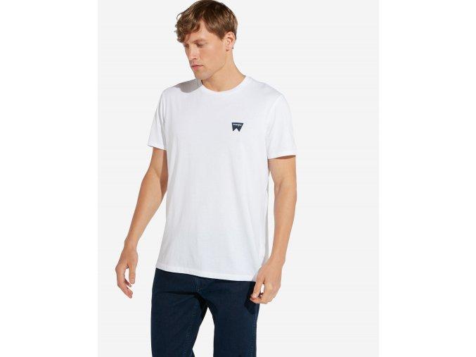 pánské bílé tričko wrangler W7C07D312