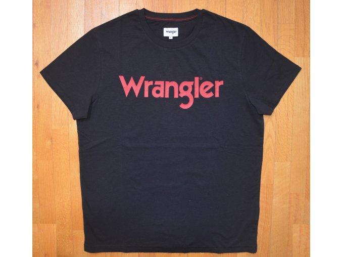 pánské černé tričko wrangler W7C49FQ01