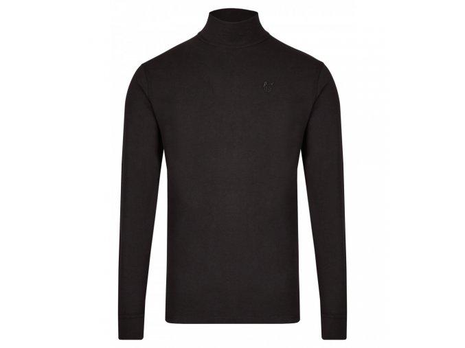 Pánské triko se stojáčkem HAJO 20015/4 100 Black