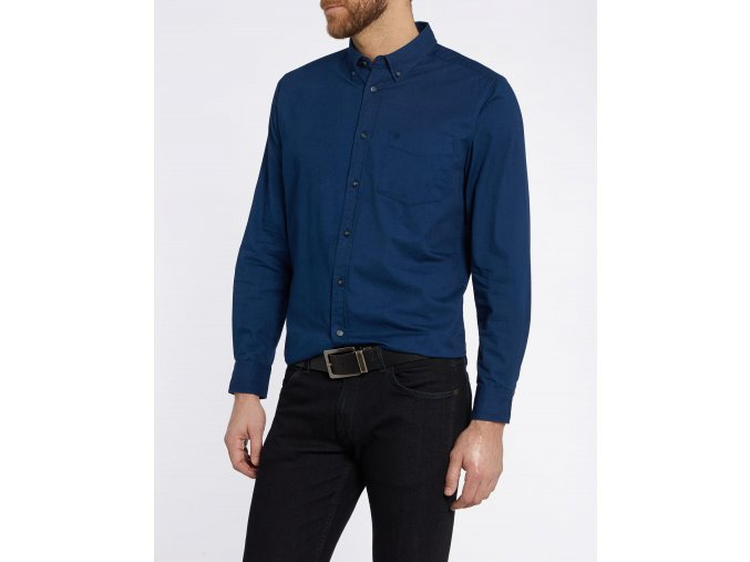 Pánská košile WRANGLER W58835Y09 SLIM FIT Estate Blue