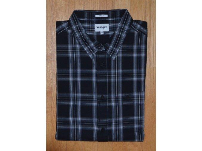 Pánská košile WRANGLER W5A14M100 REGULAR FIT Black
