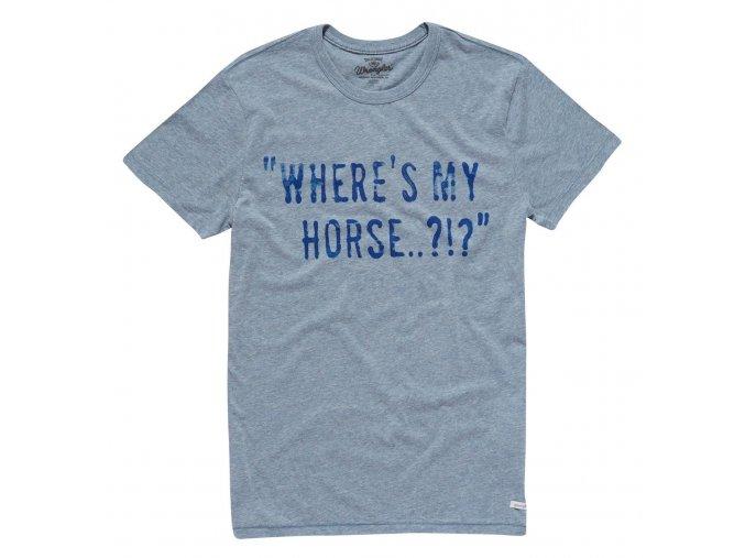 pánské světle modré tričko wrangler