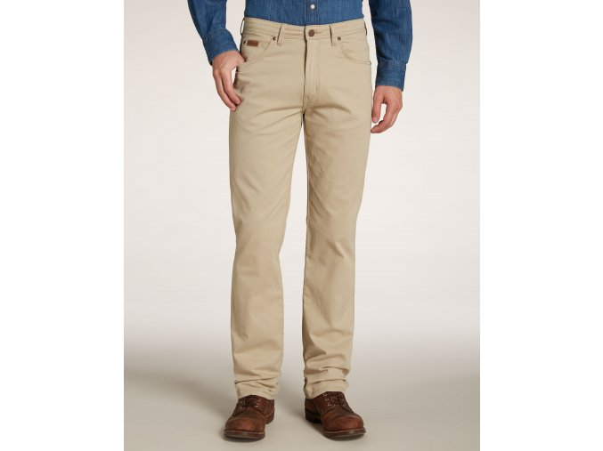 pánské kalhoty wrangler W12OP849J camel
