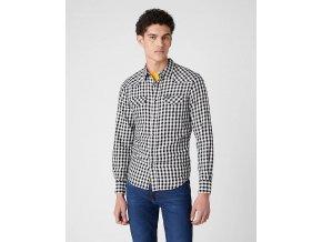 Pánská košile WRANGLER W5F03O737 LS WESTERN SHIRT Off White