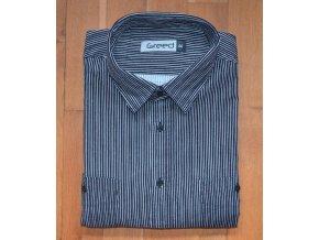 Pánská manšestrová košile AMJ Greed SDM 351 Černá